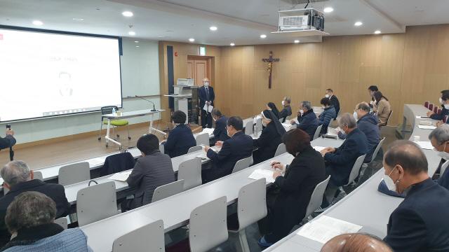 ▲ 천주교 춘천교구 평신도 추념의 날 행사가 11일 춘천 가톨릭회관에서 열렸다.