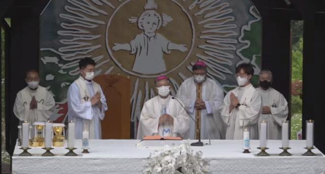 ▲ 3일 횡성 풍수원성당에서 성체현양대회가 봉헌됐다.