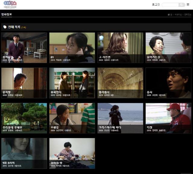 ▲ 사회적협동조합 인디하우스가 창립 5주년을 맞아 오픈한 온라인 동영상 서비스 '씨네마실' 홈페이지.